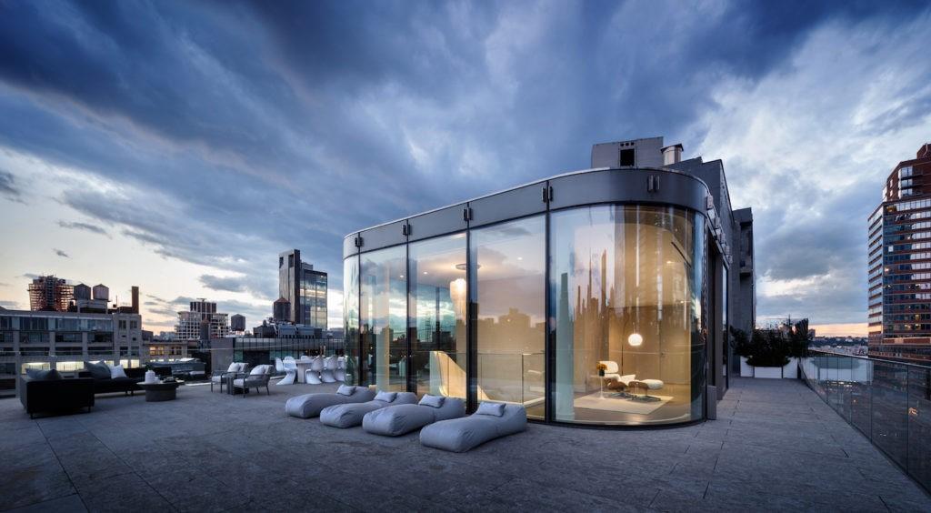 Панорамный виды и огромная терраса на крыше пентхауса Заха Хадид в Нью-Йорке