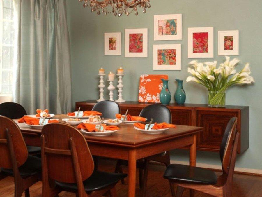 Использование цвета в столовой по традиции фэн-шуй
