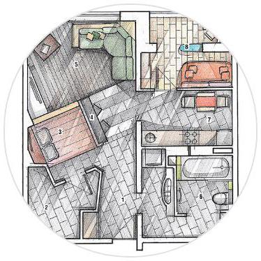 Дизайн студия интерьеров Olland. Разработка дизайна интерьеров.