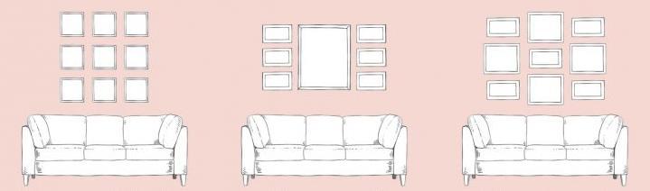 9 способов создать галерею картин в вашем доме