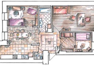 Дизайн проект квартиры в английском стиле