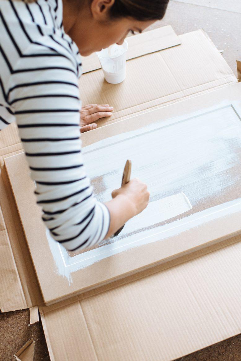 DIY перекрасить кухонные фасады