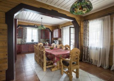 Дизайн интерьера кухни в деревянном доме