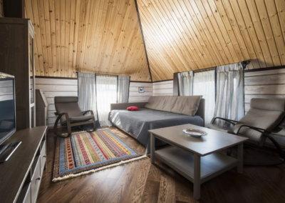 Дизайн деревянного дома из бруса внутри.