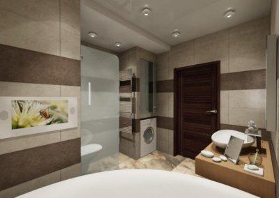 Дизайн ванной в стиле минимализма. Фото