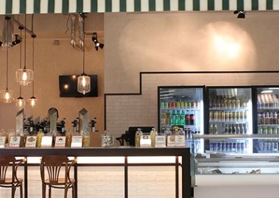 Дизайн интерьера кафе бара. Фото