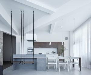 кухня и столовая в стиле лофт